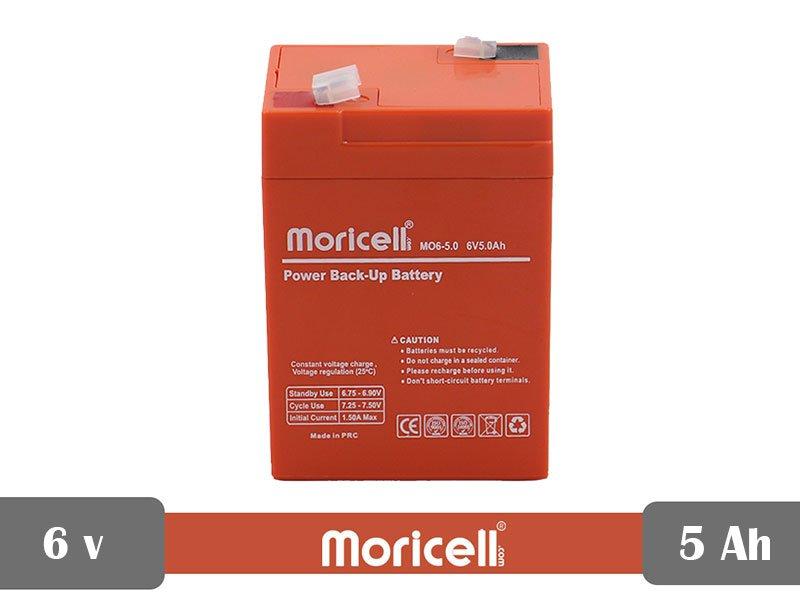 باتری سیلد اسید 6 ولت 5 آمپر moricell