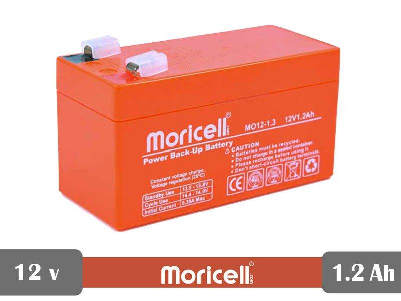 باتری سیلد اسید 12 ولت 1.2 آمپر moricell