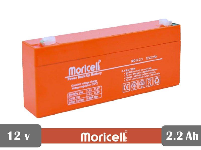 باتری سیلد اسید 12 ولت 2.2 آمپر moricell