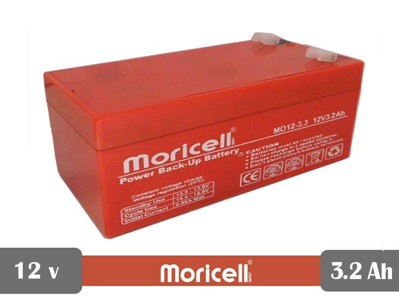 باتری سیلد اسید 12 ولت 3.2 آمپر moricell