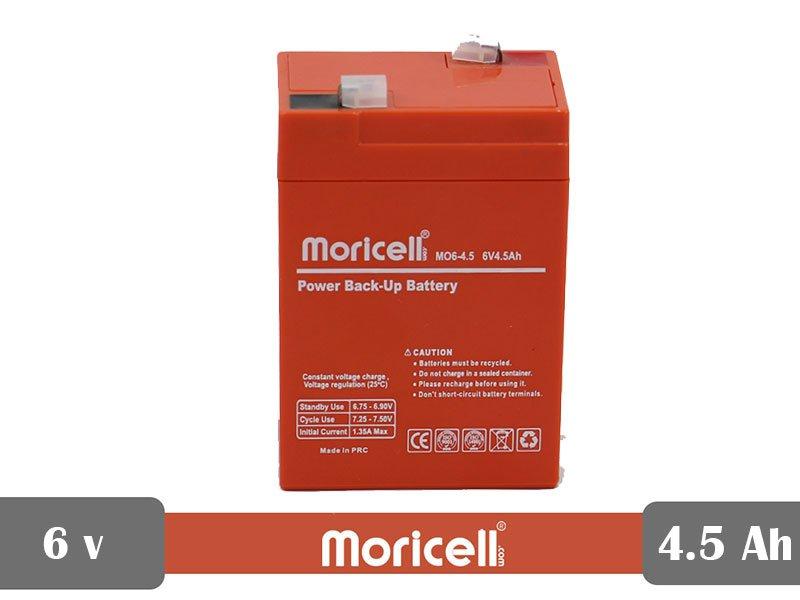 باتری سیلد اسید 6 ولت 4.5 آمپر moricell