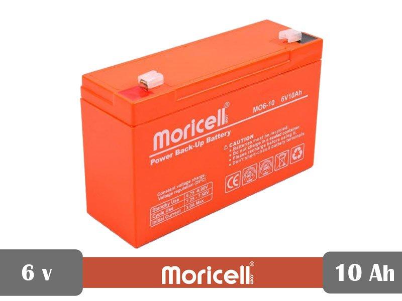 باتری سیلد اسید 6 ولت 10 آمپر moricell