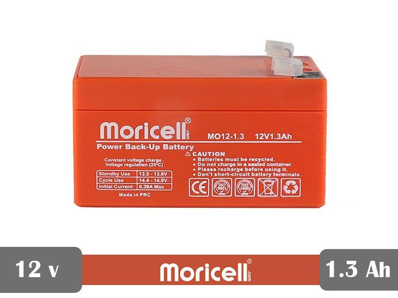 باطری سیلد اسید 12 ولت 1.3 آمپر moricell