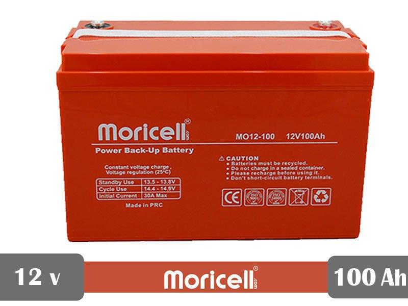 باتری یو پی اس 12 ولت 100 آمپر moricell