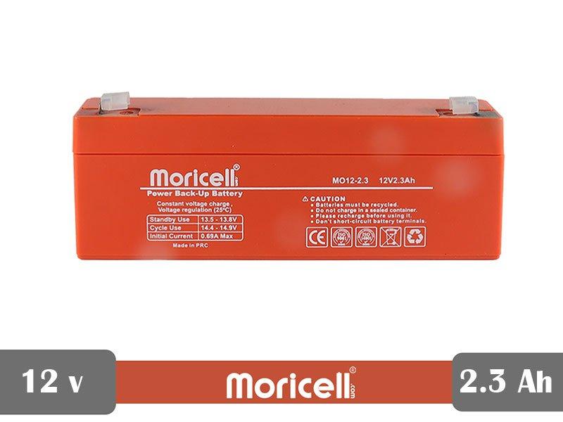 باطری سیلد اسید 12 ولت 2.3 آمپر moricell