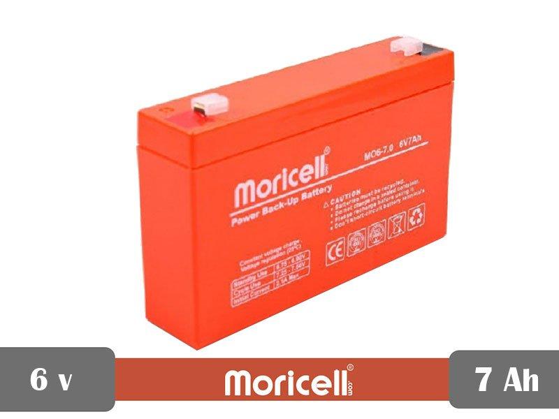 باتری سیلد اسید 6 ولت 7 آمپر moricell